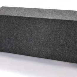 """Bbox Dual 12"""" Sealed Carpeted Subwoofer Enclosure - Fits - Universal A122-12CP"""