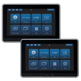 """Audiovox Dual 10.1"""" Touchscreen Smart TV Monitor Systems with Dual DVD players  AVXSB10DD"""