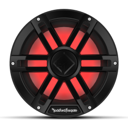 "Rockford Fosgate M1 Series 10"" marine subwoofer with dual 2-ohm voice coils and RGB LED lighting (Black) M1D2-10B"