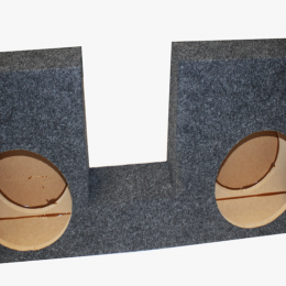 """Bbox Dual 10"""" Sealed Carpeted Subwoofer Enclosure - Fits 2008 - 2016 Ford F250/350/450 Crew Cab A394-10CP"""