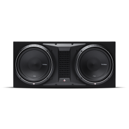 """Rockford Fosgate Ported enclosure with two 12"""" Punch P2 subwoofers P2-2X12"""