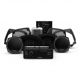 Rockford Fosgate 1998-2013 Harley-Davidson® Street Glide® Source Unit, 4 Speaker & Amp Kit HD9813SG-STAGE3