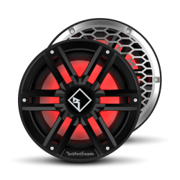 """Rockford Fosgate M2 Series 10"""" marine subwoofer with dual 2-ohm voice coils and RGB LED lighting (Black) M2D2-10IB"""