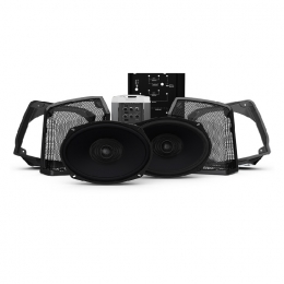 Rockford Fosgate Two Speakers & Amplifier Kit for Select 1998-2013 Road King Motorcycles HD9813RK-STAGE2