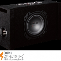 "Kenwood Excelon Reference Series ported enclosure with one 8"" shallow-mount subwoofer P-XW804B"
