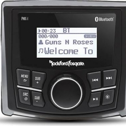 "Rockford Fosgate Punch Marine Grade Media Receiver with 2.3"" Dot Matrix Display PMX-1"