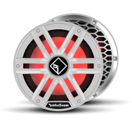 """Rockford Fosgate M2 Series 10"""" marine subwoofer with dual 4-ohm voice coils and RGB LED lighting (White)  M2D4-10I"""