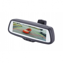 """EchoMaster 7.3"""" Factory mount rearview mirror monitor w/3 video inputs, 3 triggers, and adjustable parking lines. PMM-7333-PL"""