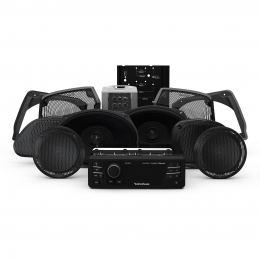 Rockford Fosgate 1998-2013 Harley-Davidson® Road Glide® Ultra Source Unit, 6 Speaker & Amp Kit HD9813RGU-STAGE3