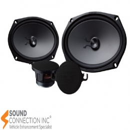 """Kenwood Excelon 6""""x9"""" component speaker system designed for select Chevrolet, Dodge, GMC, and Toyota vehicles KFC-XP6902C"""